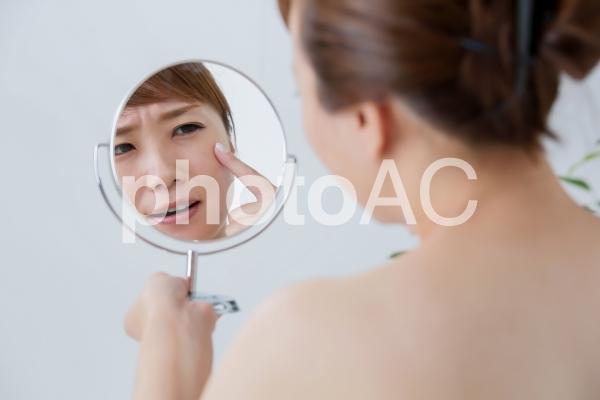 お肌トラブルのイメージの写真