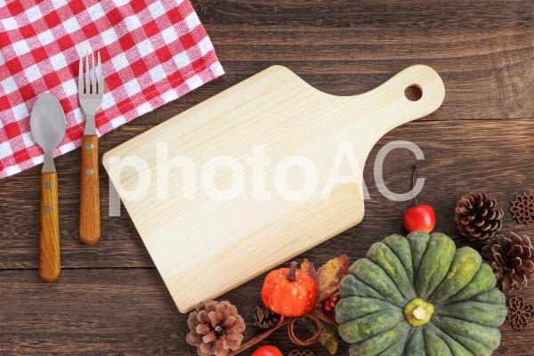 秋のキッチンカフェ背景の写真