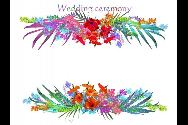 ウェルカムボード花の写真