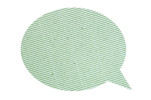 パーツ 模様 かわいい ポイント イベント 切り抜き 白バック 白背景 手作り デザイン アイデア 材料 素材 アート コラージュ 紙 クラフト クラフト紙 吹出し ふきだし 緑