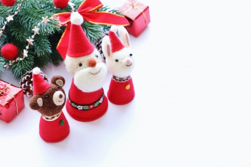 可愛いクリスマスの写真