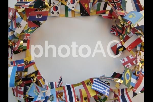 国旗のリース 1の写真