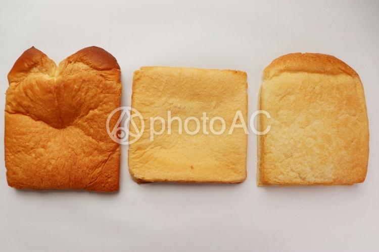 食パンの耳 3種類の写真