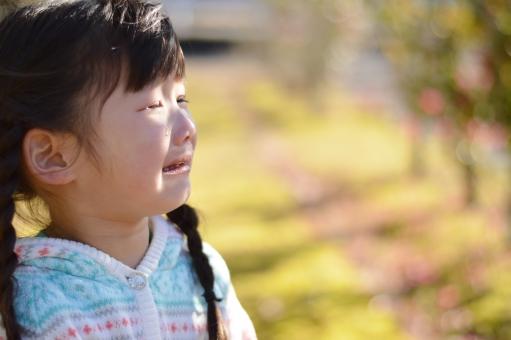 泣く 泣き顔 子供 子供 こども 子ども 女の子 涙 悲しい 痛い 幼児 4歳 12月 冬