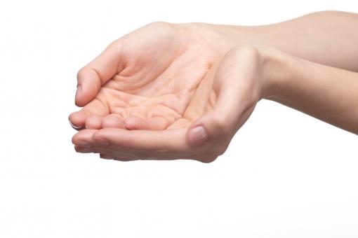 手 両手 手指 手の平 掌 手首 腕 両腕 ハンド 肌 合わせる 揃える 付ける 差し出す あげる 渡す 受ける 受け取る もらう 受け止める すくう すくい上げる 受け手 手中 掌中 素手 ハンドポーズ ポーズ ハンドパーツ パーツ 白バック 白背景