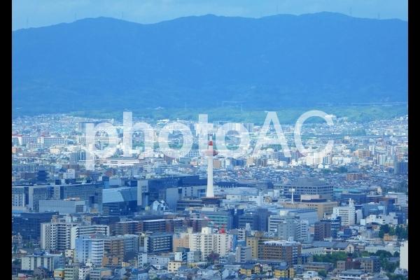京都タワー 京都市街 将軍塚からみた京都市の写真