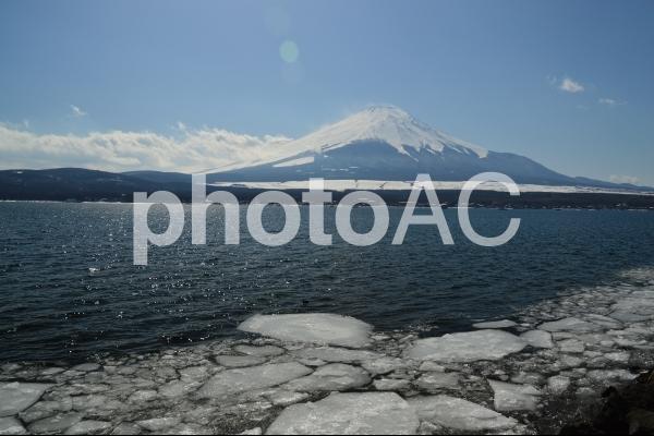 山中湖からの富士山の写真