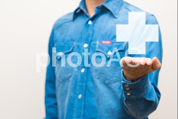 医療と男性の写真