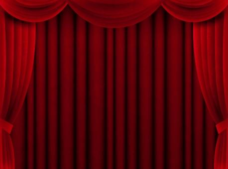 カーテン 赤 幕 緞帳 舞台 ステージ 発表 表彰 受賞 お祝い 特別 スペシャル 布 生地 周年 アワード 豪華 ゴージャス 荘厳 重厚 背景 バック
