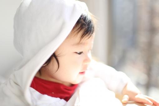 こども 子供 子ども あかちゃん 赤ちゃん ベビー baby 少年 男の子 楽しい エンジョイ 記念写真 記念撮影 0歳 半年 生後半年 白熊 白くま シロクマ クマ くま 熊