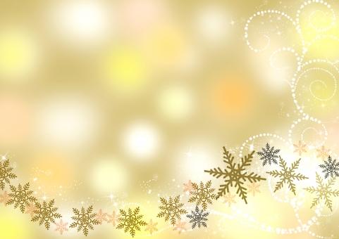 冬 クリスマス Xmas Christmas 雪 結晶 金 金色 背景 テクスチャ テキストスペース コピースペース 星 キラキラ
