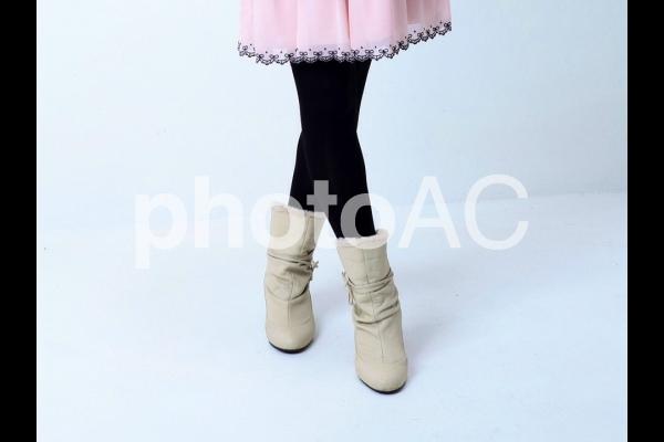 ショートブーツの写真