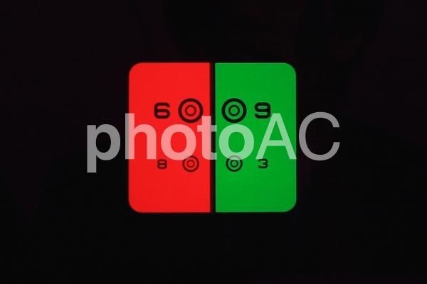 視力検査 レッドグリーン イメージの写真