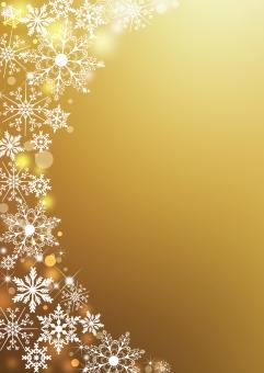 クリスマス_ゴールド_縦背景の写真