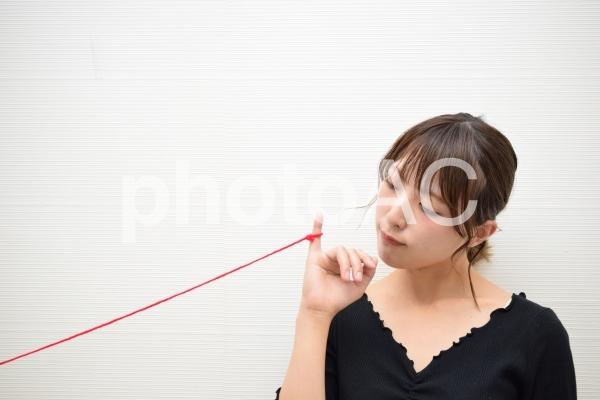 運命の赤い糸の写真