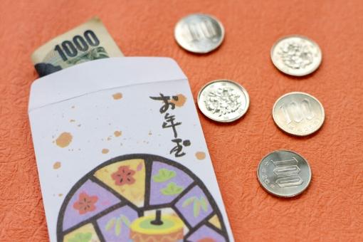 和紙 小物 お年玉 ポチ袋 硬貨 百円玉 千円札 紙幣 お金 おこずかい お正月