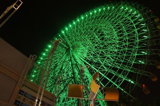 風景 景色 夜景 夜 観覧車 乗り物 大阪 海遊館 観光 レジャー ベイエリア 湾岸 都会 街 壁紙 Ferris wheel  nightview sightseeing japan osaka