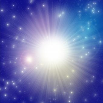 銀河の星~真ん中から光~の写真