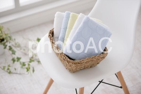畳んだタオルの写真