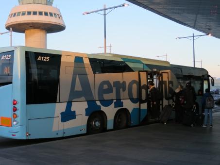 移動 バス エアポート 青 Aero Bus