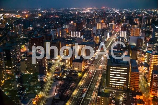 仙台市内の夜景の写真
