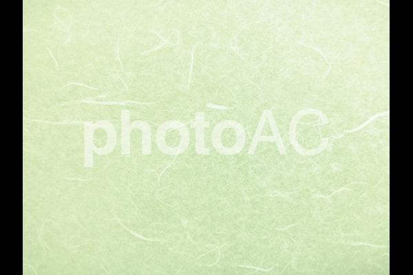 緑の和紙テクスチャ背景素材の写真