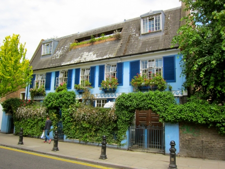 イギリス england notting hill ノッティングヒル london ロンドン 家 青 house blue