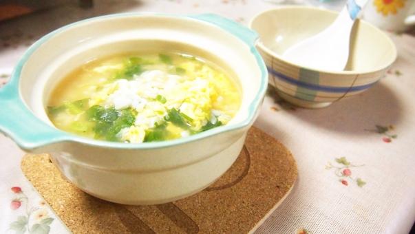 おじや 雑炊 ごはん ご飯 風邪 スプーン 体調不良 日本人 病気 ぽかぽか 温まる 土鍋 ミニ 小さい 茶碗 一人 一人分 食べ物
