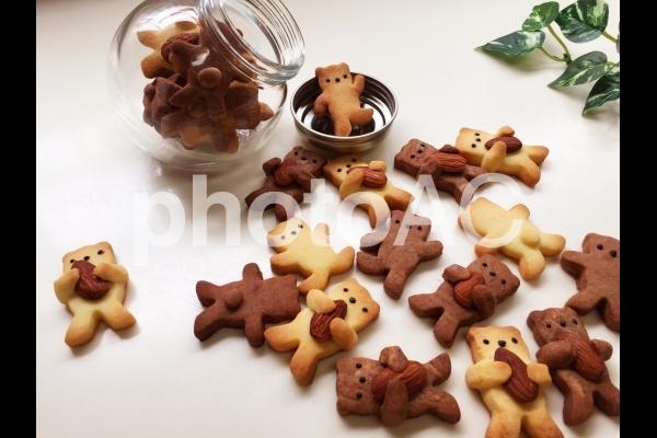 くまのアーモンドだっこクッキーの写真