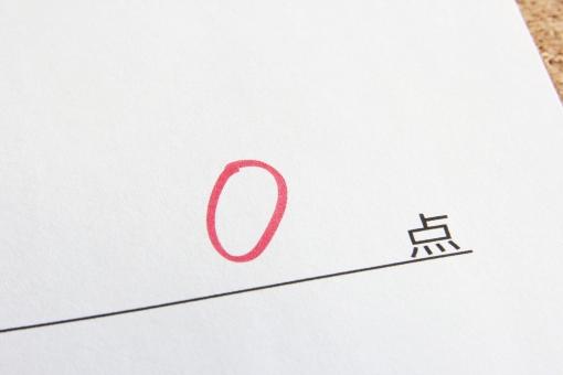0点 ゼロ ゼロ点 ペケ ビリ 落第 不合格 失格 テスト 問題 解答用紙 用紙 試験 受験 ぜろ れい点 素材 背景素材 背景 イメージ 負け組 失敗 びり 最下位 点数 数字 数値 可能性 天才 学力