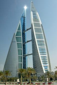 中東バーレーンの高層ビルの写真