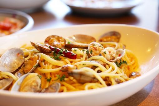 スパゲッティボンゴレビアンコ スパゲッティ スパゲティ ボンゴレ あさり アサリ アサリのスパゲティ カフェごはん レストラン パスタ パスタランチ spaghetti