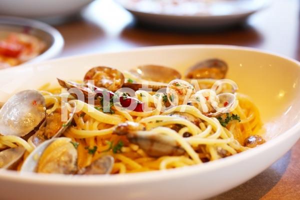 スパゲティ ボンゴレビアンコの写真