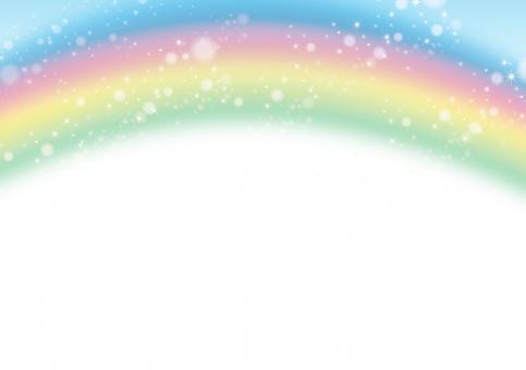 虹 コピースペース レインボー 6月 雨上がり にじ 背景 七色 バックグラウンド グラフィック 空 青 ピンク 紫 5月 緑 素材 テクスチャ バック きらきら キラキラ ポストカード メルヘン 晴 雨 水 フレーム 罫線 カエル 7月 8月 9月 梅雨 コメント