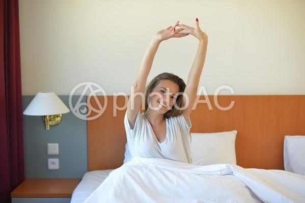 ホテル 目覚める女性24の写真