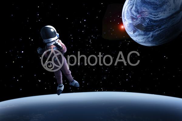 宇宙遊泳の写真