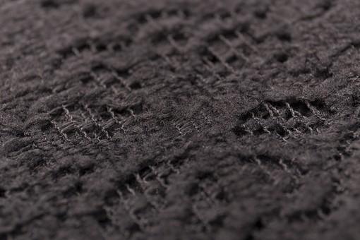 全面 編み物 編物 毛糸 毛糸玉 糸 けいと 手芸 編み物用品 手編み ニット 編む 手作り 手仕事 ハンドメイド 趣味 ホビー 素材 資材 シンプル 雑貨 紺色 青 青色 黒 黒色 ブラック チャコールグレー 灰色 接写 アップ 生地 模様 透かし模様 透かし編み
