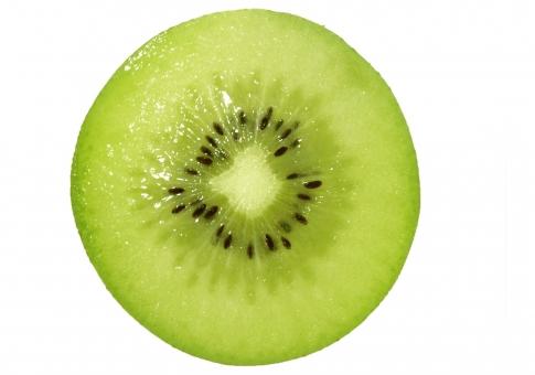 果物 フルーツ 食べ物 緑 茶色 カット 輪切り 青果 切り抜き キウイ 断面 背景透過