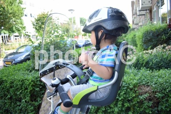 子ども乗せ自転車フロントシートの写真