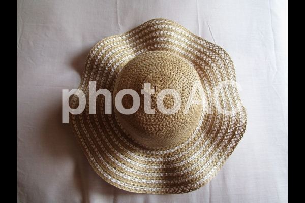 麦わら帽子の写真