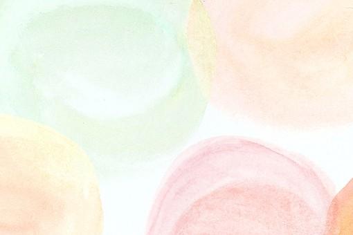 背景 背景素材 壁紙 バックグラウンド テクスチャ テクスチャー 模様 柄 イラスト イラストレーション 紙 手描き 手書き 水彩 にじみ ランダム かわいい おしゃれ 水玉 水玉模様 ドット 円 丸 緑 グリーン オレンジ イエロー ピンク 赤 やわらかい 優しい ふんわり ぼかし