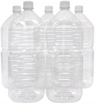 ペットボトル2L×5本(リサイクル)イメージの写真