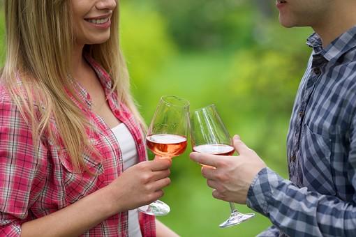 ピクニック お出かけ デート カップル 恋人 男 男性 女 女性 彼氏 彼女 ラブラブ ピクニックデート 接写 クローズアップ アップ 飲み物 お酒 酒 アルコール ワイン ワイングラス カンパイ 乾杯
