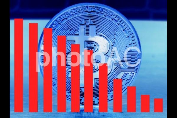 仮想通貨 下落の写真