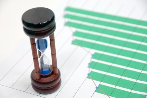 砂時計 時計 グラフ ビジネス 成長 資料 会議 ミーティング 時間 管理 タイム マネージメント タイムマネージメント スケジュール コンサルタント コンサルティング タイミング 株 株価