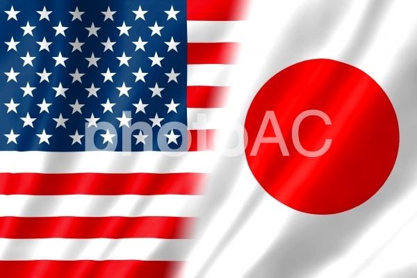 日米国旗4 シンプルの写真