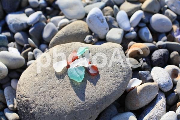 海辺のビーチグラスの写真