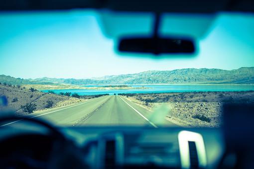 車内からの景色の写真