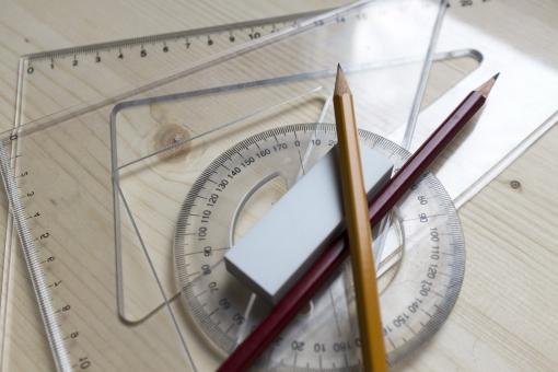 鉛筆 分度器 三角定規 定規 物差 文房具 文具 筆記用具 筆記具 角度計 算数 数学 ステーショナリーグッズ ぶんぼうぐ 円分度器 全円分度器 透明 二本 二枚 ペンシル 角度 クリア 尺度 目安 丈尺 メジャー