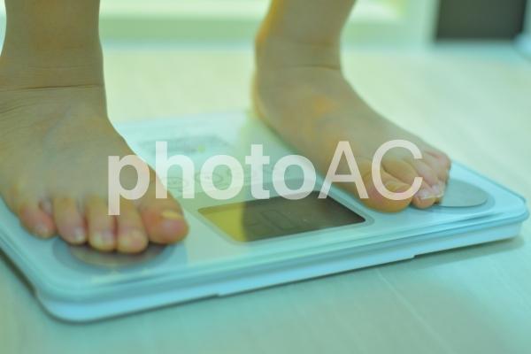 体重測定の写真